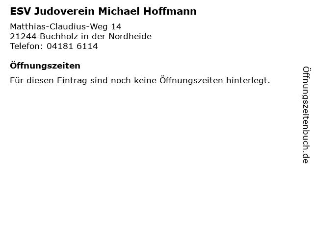 ESV Judoverein Michael Hoffmann in Buchholz in der Nordheide: Adresse und Öffnungszeiten