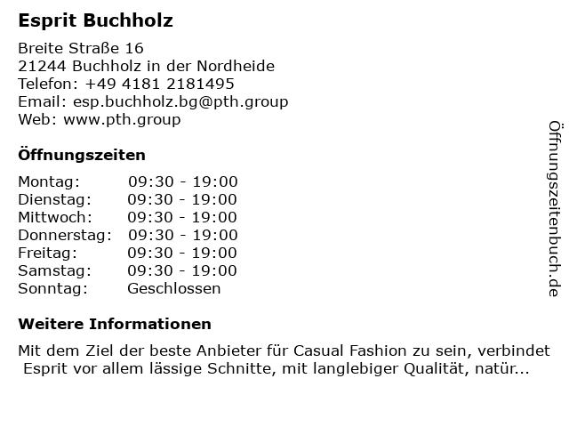 Esprit Buchholz in Buchholz in der Nordheide: Adresse und Öffnungszeiten