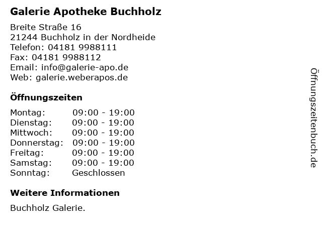 Galerie Apotheke Buchholz in Buchholz in der Nordheide: Adresse und Öffnungszeiten