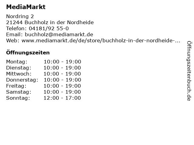 ᐅ öffnungszeiten Media Markt Buchholz In Der Nordheide Nordring
