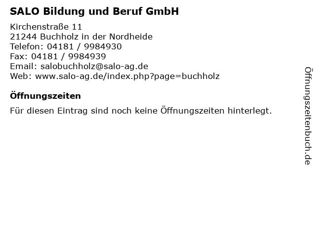 SALO Bildung und Beruf GmbH in Buchholz in der Nordheide: Adresse und Öffnungszeiten