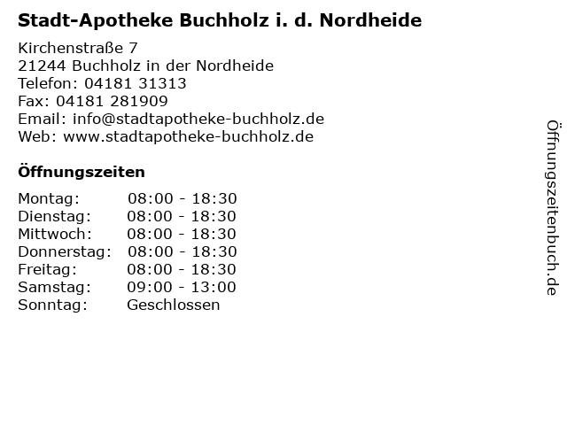 Stadt-Apotheke Buchholz i. d. Nordheide in Buchholz in der Nordheide: Adresse und Öffnungszeiten