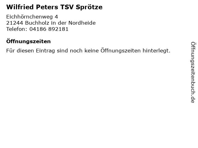 Wilfried Peters TSV Sprötze in Buchholz in der Nordheide: Adresse und Öffnungszeiten