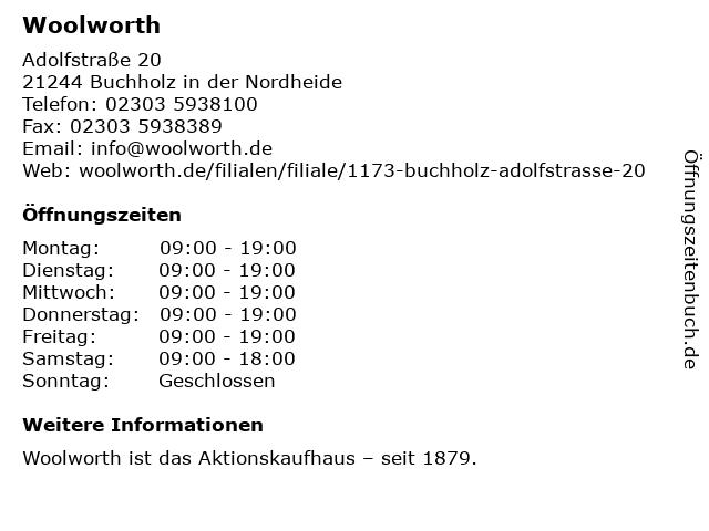 Woolworth in Buchholz in der Nordheide: Adresse und Öffnungszeiten