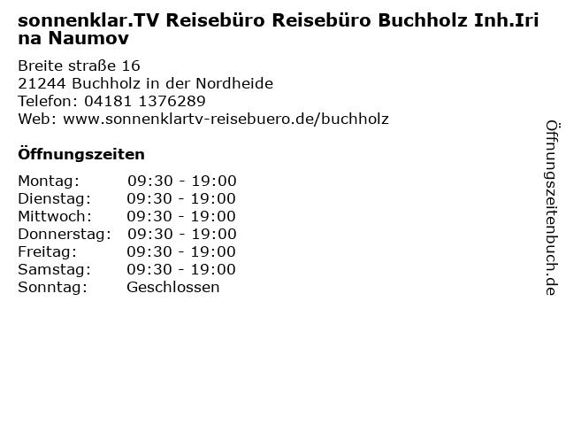 Sonnenklar Reisebüro Buchholz in Buchholz: Adresse und Öffnungszeiten