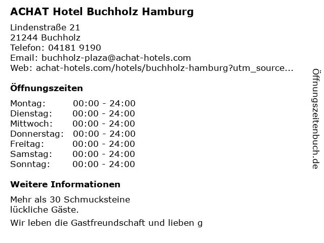 ACHAT Plaza Hamburg/Buchholz -Restaurant- in Buchholz: Adresse und Öffnungszeiten