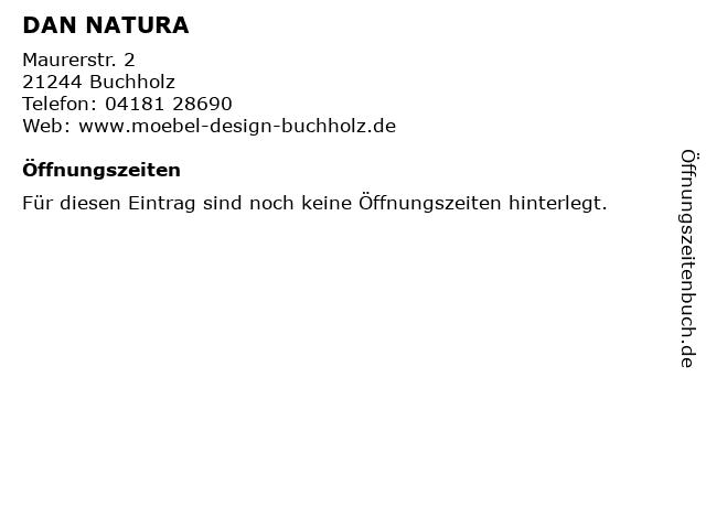 ᐅ Offnungszeiten Dan Natura Maurerstr 2 In Buchholz