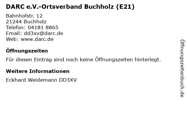 DARC e.V.-Ortsverband Buchholz (E21) in Buchholz: Adresse und Öffnungszeiten