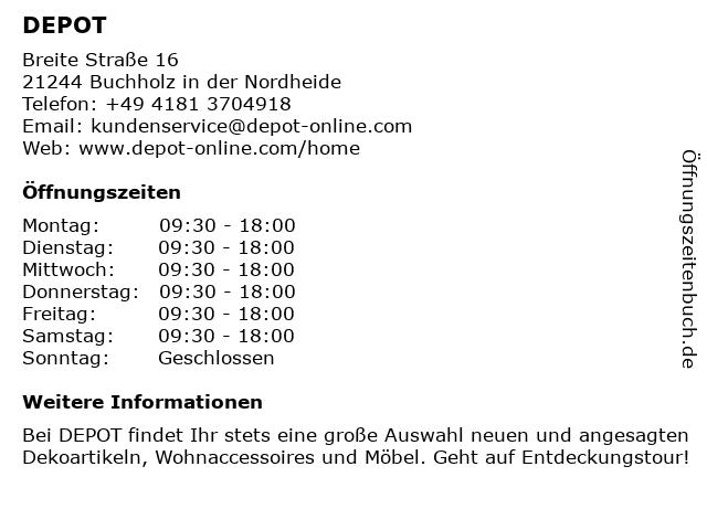 DEPOT Gries Deco Company GmbH in Buchholz: Adresse und Öffnungszeiten