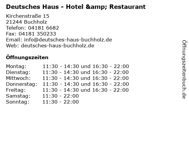 Deutsches Haus - Hotel & Restaurant in Buchholz: Adresse und Öffnungszeiten