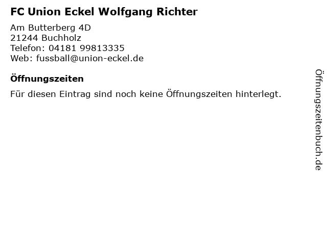 FC Union Eckel Wolfgang Richter in Buchholz: Adresse und Öffnungszeiten