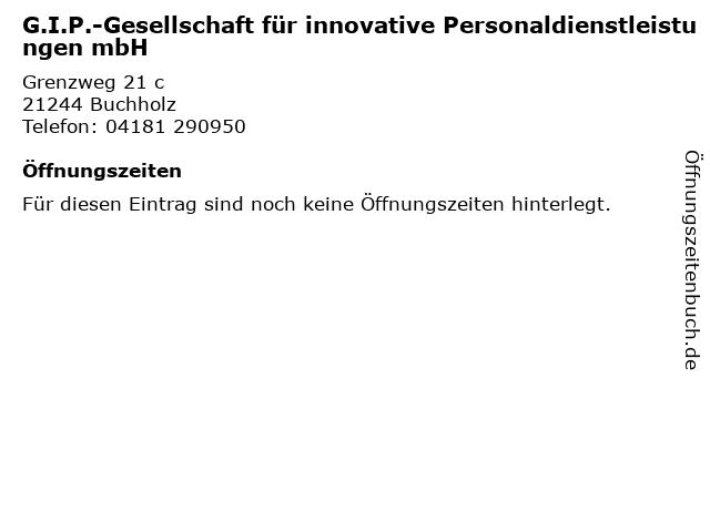 G.I.P.-Gesellschaft für innovative Personaldienstleistungen mbH in Buchholz: Adresse und Öffnungszeiten