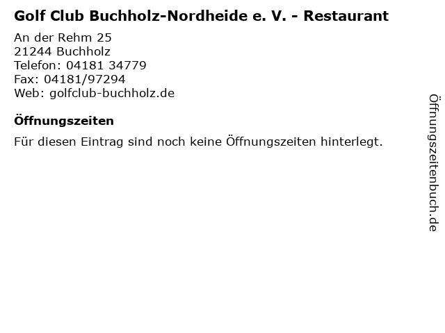 Golf Club Buchholz-Nordheide e. V. -Mai bis Oktober- - Restaurant- in Buchholz: Adresse und Öffnungszeiten