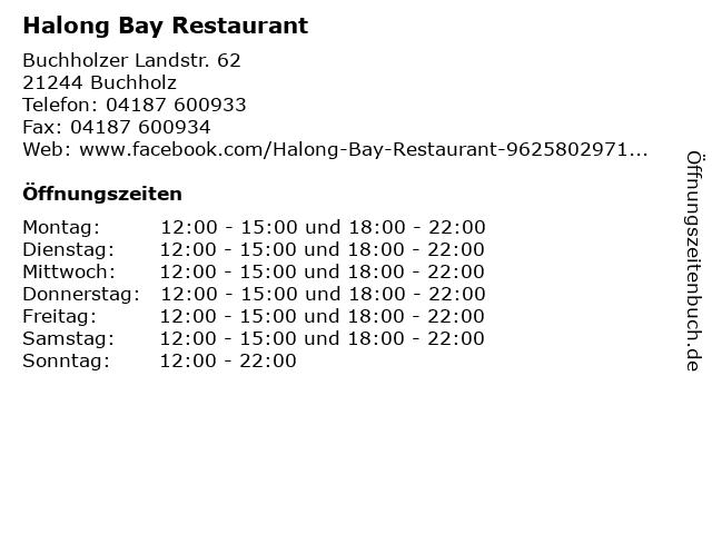 Halong Bay Restaurant in Buchholz: Adresse und Öffnungszeiten