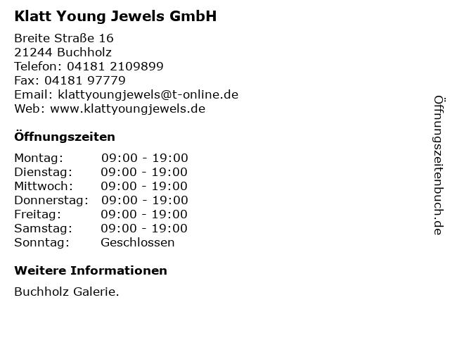 Klatt Young Jewels GmbH in Buchholz: Adresse und Öffnungszeiten