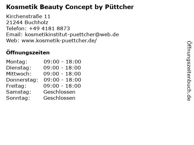 Kosmetik Beauty Concept by Püttcher in Buchholz: Adresse und Öffnungszeiten