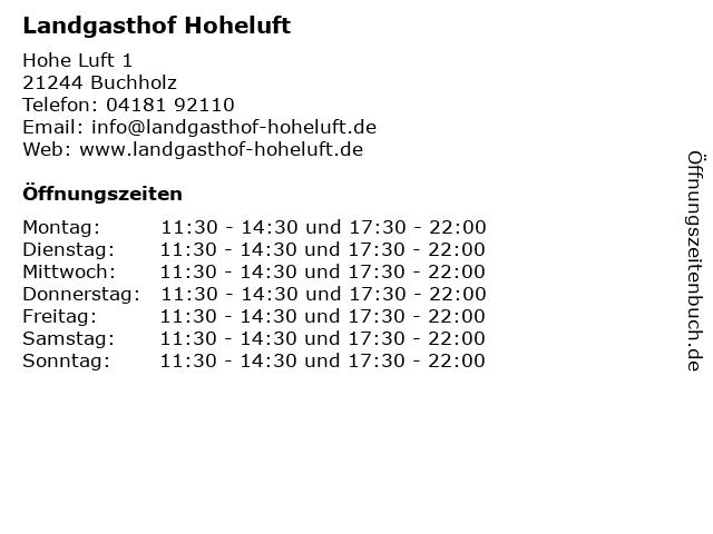 Landgasthof Hoheluft in Buchholz: Adresse und Öffnungszeiten