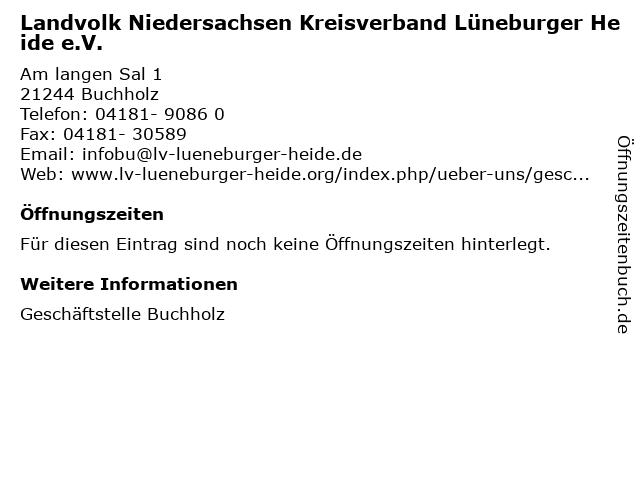 Landvolk Niedersachsen Kreisverband Lüneburger Heide e.V. in Buchholz: Adresse und Öffnungszeiten