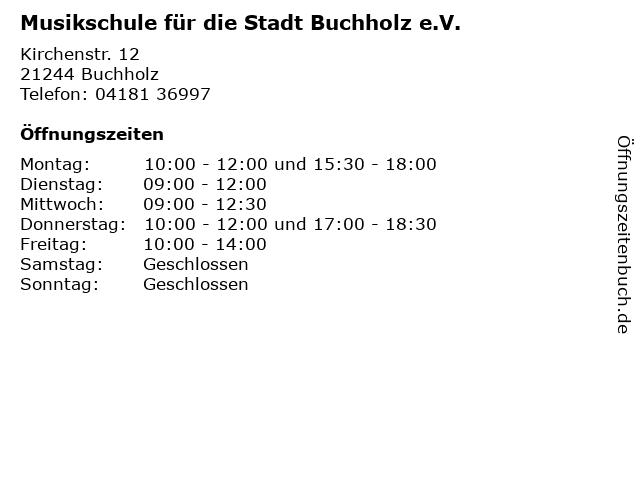 Musikschule für die Stadt Buchholz e.V. in Buchholz: Adresse und Öffnungszeiten