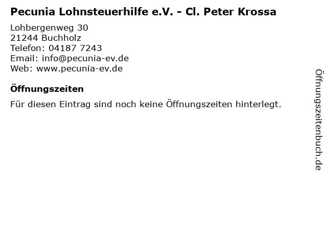 Pecunia Lohnsteuerhilfe e.V. - Cl. Peter Krossa in Buchholz: Adresse und Öffnungszeiten