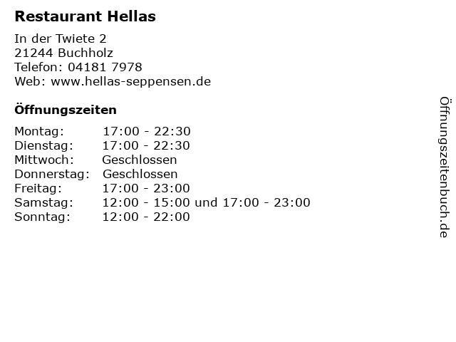 Restaurant Hellas in Buchholz: Adresse und Öffnungszeiten