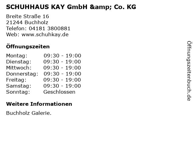 SCHUHHAUS KAY GmbH & Co. KG in Buchholz: Adresse und Öffnungszeiten