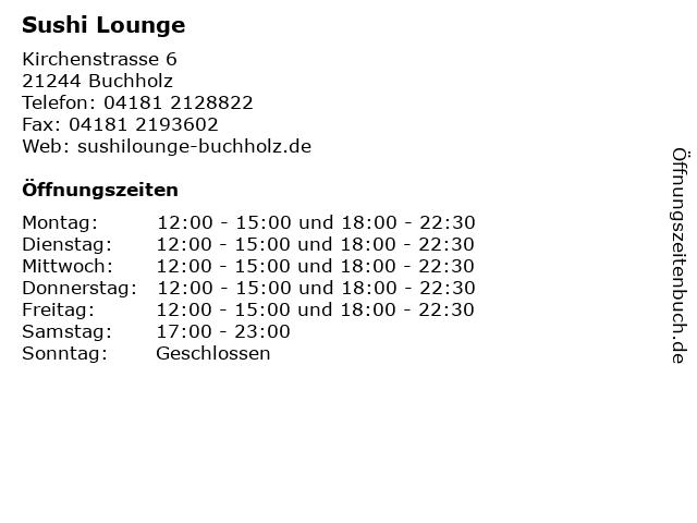 Sushi Lounge in Buchholz: Adresse und Öffnungszeiten