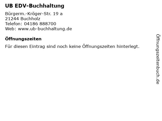 UB EDV-Buchhaltung in Buchholz: Adresse und Öffnungszeiten