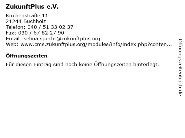 ZukunftPlus e.V. in Buchholz: Adresse und Öffnungszeiten