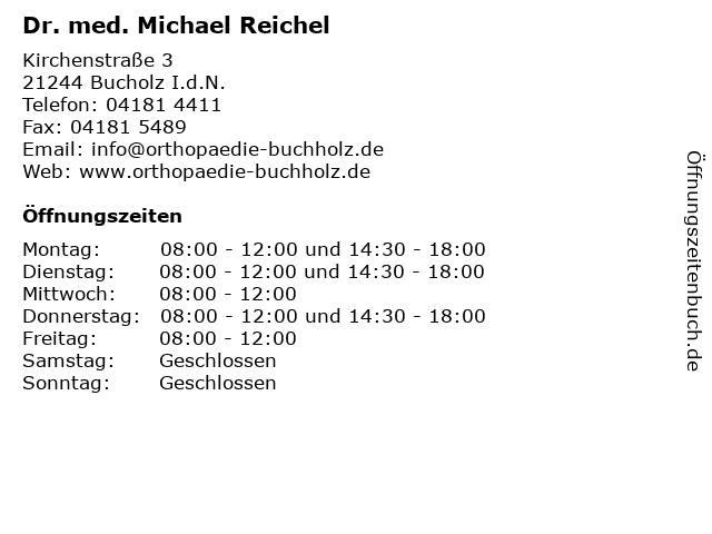 Dr. med. Michael Reichel in Bucholz I.d.N.: Adresse und Öffnungszeiten