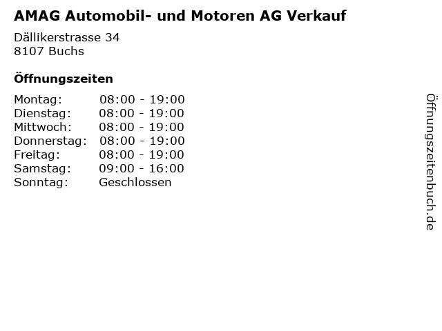 AMAG Automobil- und Motoren AG Verkauf in Buchs: Adresse und Öffnungszeiten