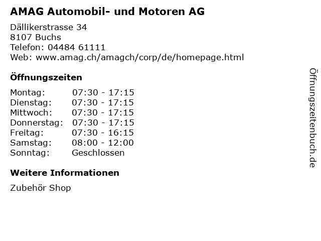 AMAG Automobil- und Motoren AG in Buchs: Adresse und Öffnungszeiten