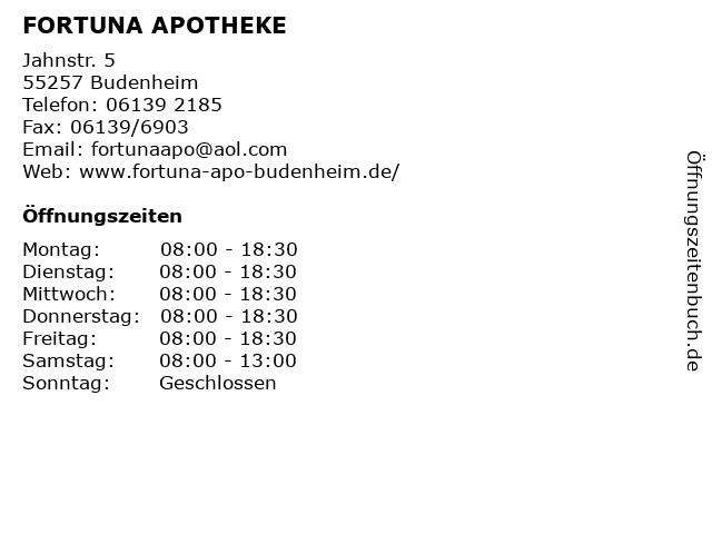 FORTUNA APOTHEKE in Budenheim: Adresse und Öffnungszeiten