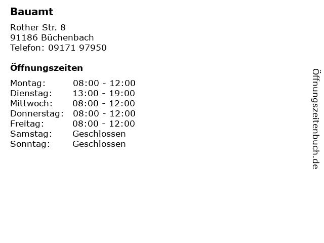 Bauamt in Büchenbach: Adresse und Öffnungszeiten