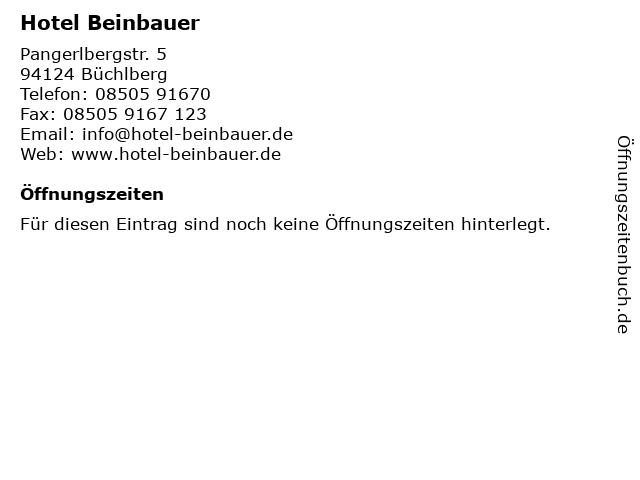 Hotel Beinbauer in Büchlberg: Adresse und Öffnungszeiten