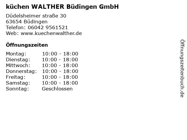 ᐅ Offnungszeiten Kuchen Walter Dudelsheimer Strasse 30 In Budingen
