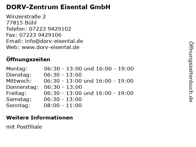 DORV-Zentrum Eisental GmbH in Bühl: Adresse und Öffnungszeiten