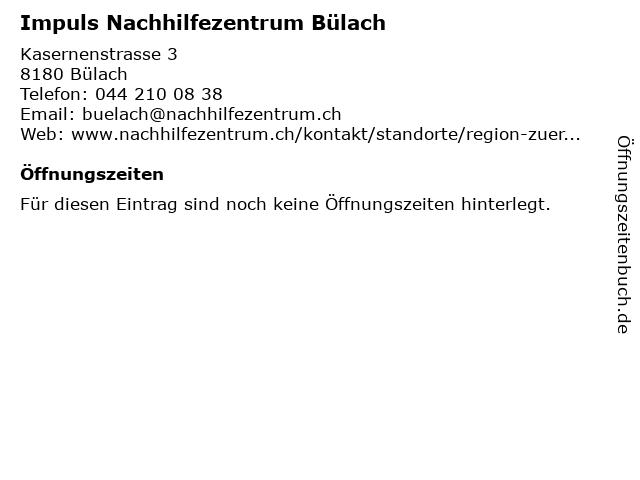 Impuls Nachhilfezentrum Bülach in Bülach: Adresse und Öffnungszeiten