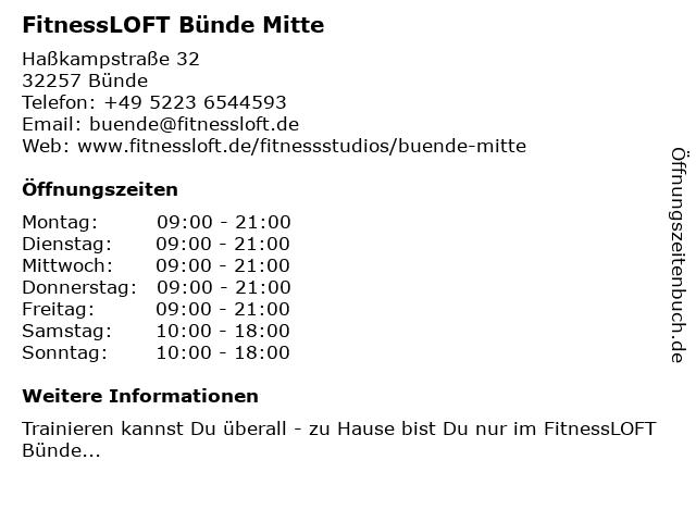 Fitnessloft in Bünde: Adresse und Öffnungszeiten