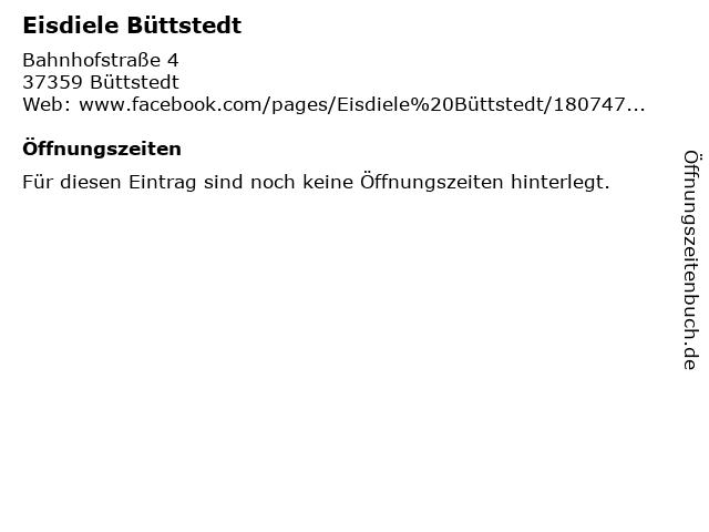 Eisdiele Büttstedt in Büttstedt: Adresse und Öffnungszeiten