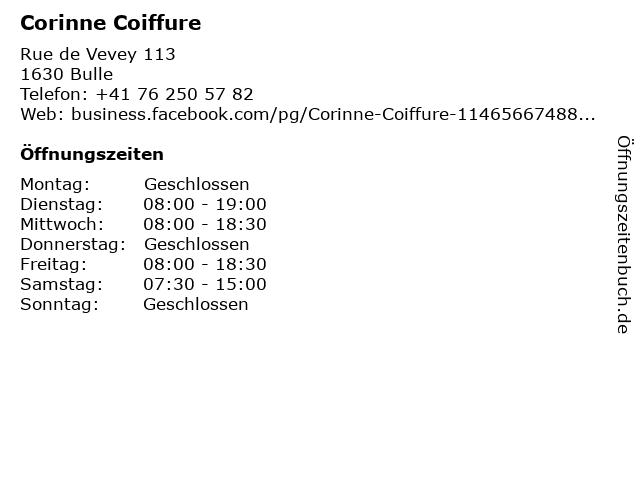 Corinne Coiffure in Bulle: Adresse und Öffnungszeiten