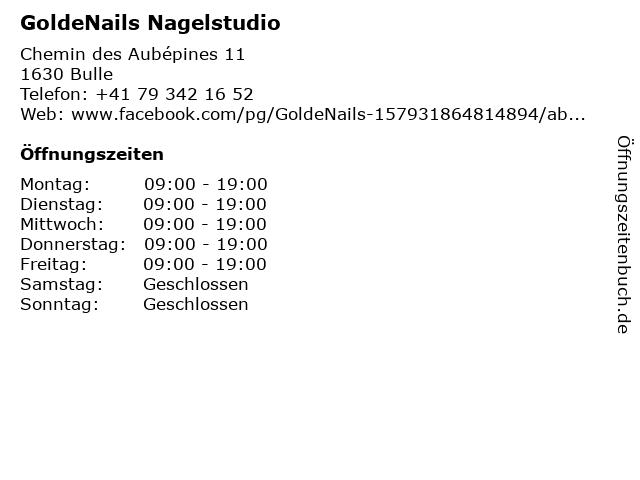 GoldeNails Nagelstudio in Bulle: Adresse und Öffnungszeiten