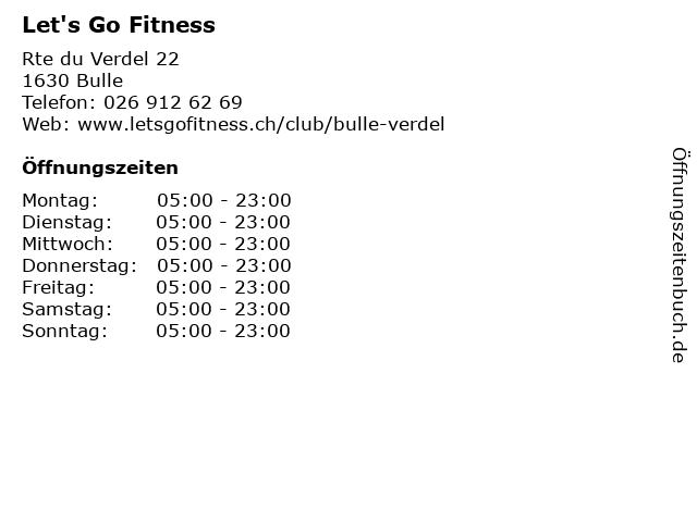 Let's Go Fitness in Bulle: Adresse und Öffnungszeiten