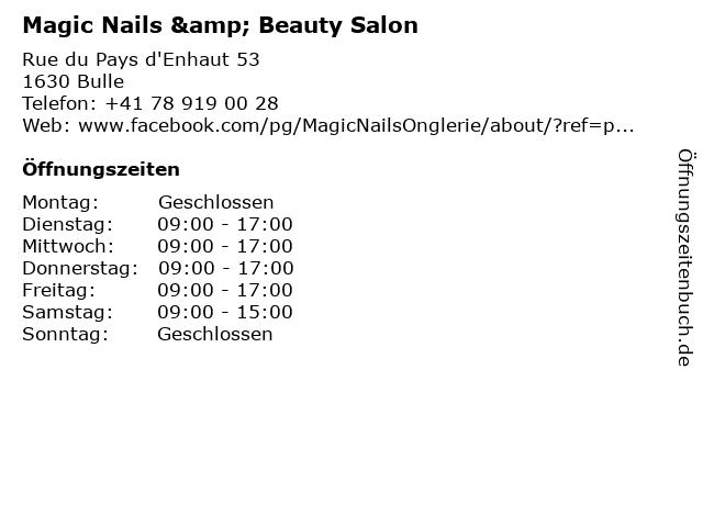 Magic Nails & Beauty Salon in Bulle: Adresse und Öffnungszeiten