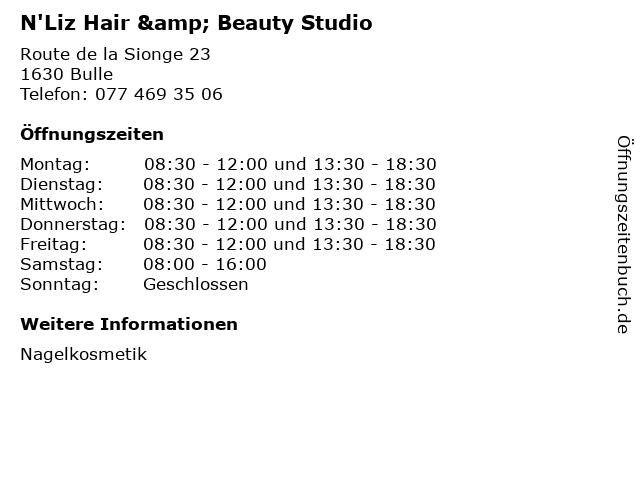N'Liz Hair & Beauty Studio in Bulle: Adresse und Öffnungszeiten