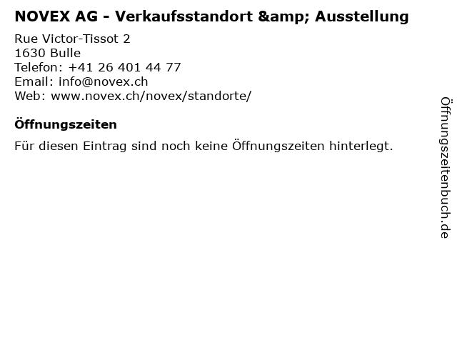 NOVEX AG - Verkaufsstandort & Ausstellung in Bulle: Adresse und Öffnungszeiten