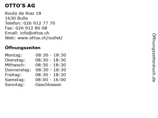 OTTO'S AG in Bulle: Adresse und Öffnungszeiten