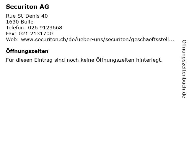 Securiton AG in Bulle: Adresse und Öffnungszeiten