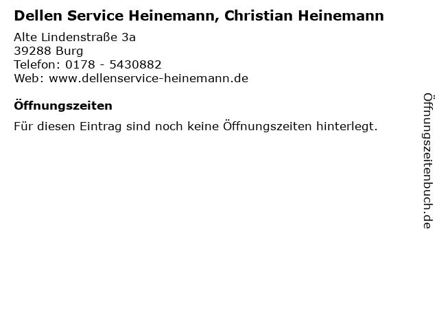 Dellen Service Heinemann, Christian Heinemann in Burg: Adresse und Öffnungszeiten