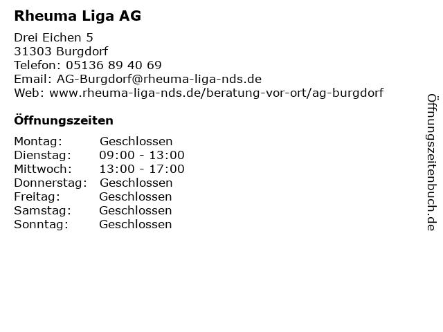 Rheuma Liga AG in Burgdorf: Adresse und Öffnungszeiten